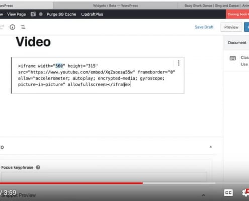 How Can I Embed a YouTube Video to WordPress
